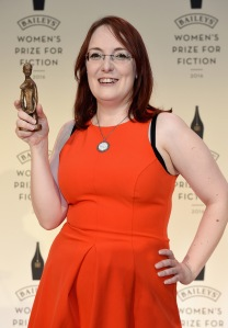 LONDON, ENGLAND - JUNE 08: Lisa McInerney wins the 2016 Baileys Women's Prize for Fiction for The Glorious Heresies (John Murray) at London's Royal Festival Hall on June 8, 2016 in London, England. (Photo by Stuart C. Wilson/Getty Images for Baileys ) *** Local Caption *** Lisa McInerney